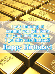 Birthday Card With Bars Gold Bar Funny Birthday Card Birthday Greeting Cards By Davia