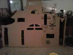 haunted house decoration made out of cardboard humpty dumpty