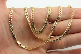 curb link chain necklace images 14k yellow gold 22 4mm curb link chain necklace estate vintage jpg