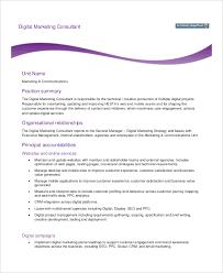 Digital Marketing Consultant Resume Marketing Consultant Job Description Examples Of Marketing