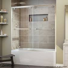 Sliding Bathtub Shower Doors Barn Door Sliding Shower Doors Frameless Hinged Tub Half Glass For