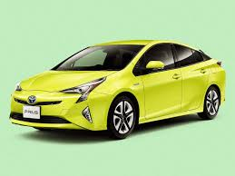 yellow toyota a toyota prius now saves even more energy with this extra bright green
