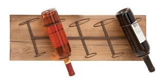 amazon com deco 79 wall wood metal wine rack 26 by 8 inch