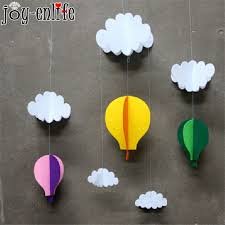 enlife1set clouds air balloon stereo diy felt ornaments