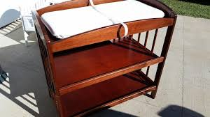 Bassett Changing Table Wood Bassett Changing Table Station Baby For Sale On
