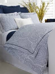 lauren 5 pc westport queen comforter pillow shams paisley blue