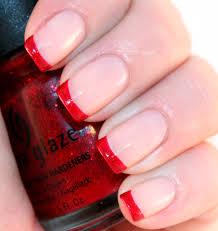 french manicure red tip google search rachel hc pinterest