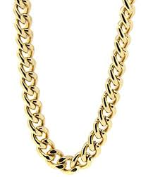gold plated curb necklace images Mens 18k gold plated 36 quot inches hip hop cuban curb link chain jpg