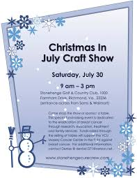 christmas in july craft sale to support vcu massey cancer center