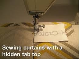 Tab Curtains Pattern Sewing Curtains With A Tab Top Fiscally Chic