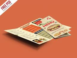 retro restaurant food menu brochure free psd u2013 uxfree com