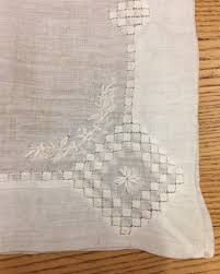 Tousled Bed Sheets Linen Road Written Two Nerdy History Girls A Pair Of Hand Stitched Handkerchiefs