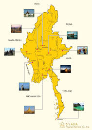 Map Burma Maps Update 650500 Burma Tourist Map U2013 Myanmar Top Places To