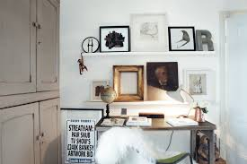Desk Painting Ideas Oil Painting Ideas With Floating Shelves Home Office Eclectic And