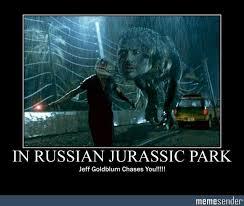 Jeff Goldblum Meme - in russian jurassic park jeff goldblum chases you