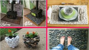 creative river rock craft rock crafts decoration home ideas