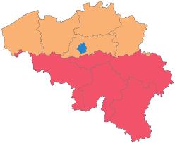 map belguim provinces of belgium