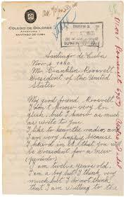 letter from fidel castro to president franklin d roosevelt