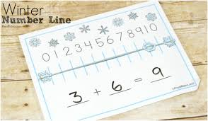 printable snowflake writing paper winter number line for chilly math fun royal baloo