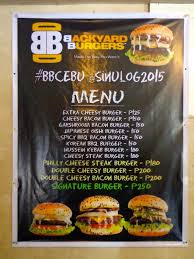 Backyard Burgers Backyard Burger Menumenu World Menu World