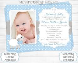 Greeting Cards For Invitation Lamb Baptism Invitation Boy First 1st Birthday Christening