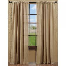 Burlap Ruffle Curtain Country Panel Curtains Burlap Natural 84