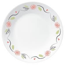 Corelle Livingware 16 Piece Dinnerware Set Winter Frost White Corelle Livingware Tangerine Garden 16 Pc Set Shop World Kitchen