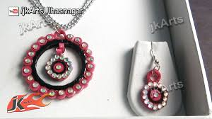 quilling earrings set diy paper quilling jewelry set how to make jk arts 379