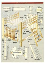 Free Full Size Loft Bed With Desk Plans by Queen Size Bunk Bed Plans Stuff For Me Pinterest Bed Plans