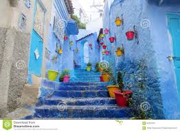 Morocco Blue City by Blue City Chefchaouen Street Stock Photo Image 62362231