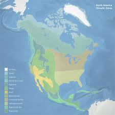 america climate zones map mappery