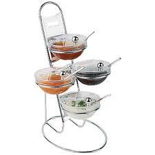 aps buffet ladder u0026 medium bowl set 3 tier chromed restaurant