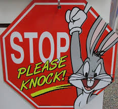 bunny stop sign looney tunes