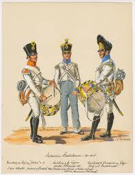 Austro Hungarian Empire Flag Austrian Infantry Drummers 1811 14 L To R Drummer Regt Jordis No