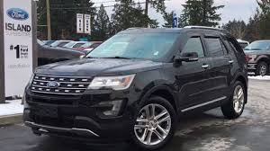 ford explorer 2017 black 2017 ford explorer limited w navigation active park assist