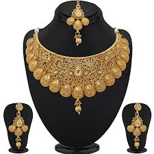 plated choker necklace images Sukkhi traditional gold plated kundan choker necklace set for jpg