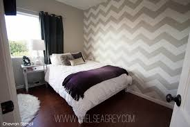 wall pattern for bedroom an enchanting chevron stenciled bedroom stencil stories stencil