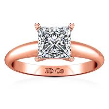 verlobungsring solitã r solitaire princess cut engagement ring 14k gold