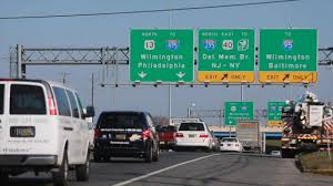 I 95 Map Map Of The New Jersey Turnpike From Exit 7a To Exit 15 Via Truck