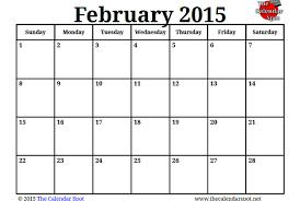 Calendar Template February 2015 image for printable blank pdf february 2015 calendar the calendar