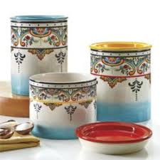 pottery kitchen canister sets ceramica zanzibar 3 kitchen canister set reviews