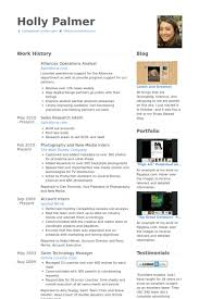 Disney Resume Example by Operations Analyst Resume Samples Visualcv Resume Samples Database
