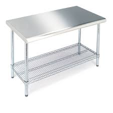Table With Shelf Underneath by Amazon Com Seville Classics Commercial Nsf Stainless Steel Top