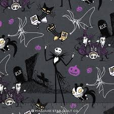 disney nightmare before in the boxes gray yardage