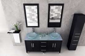 Bathroom Vessel Sink Vanity by Avola 59 Inch Double Glass Vessel Sinks Bathroom Vanity Glass Top