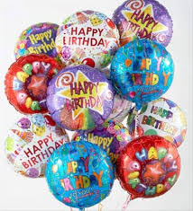 helium filled balloons delivered bouquet of all mylar helium filled ballons for a birthday no