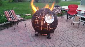 Steel Fire Pit - an incredible steel star wars death star ii fire pit