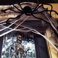 49 inch 125cm black realistic fake plush spider puppet prank jokes