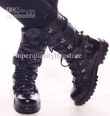 s knee boots on sale s leather shoes knee high boots cool metal rivets lace up
