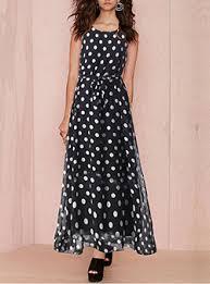 black chiffon polka dot dresses cheap fashion dress online store